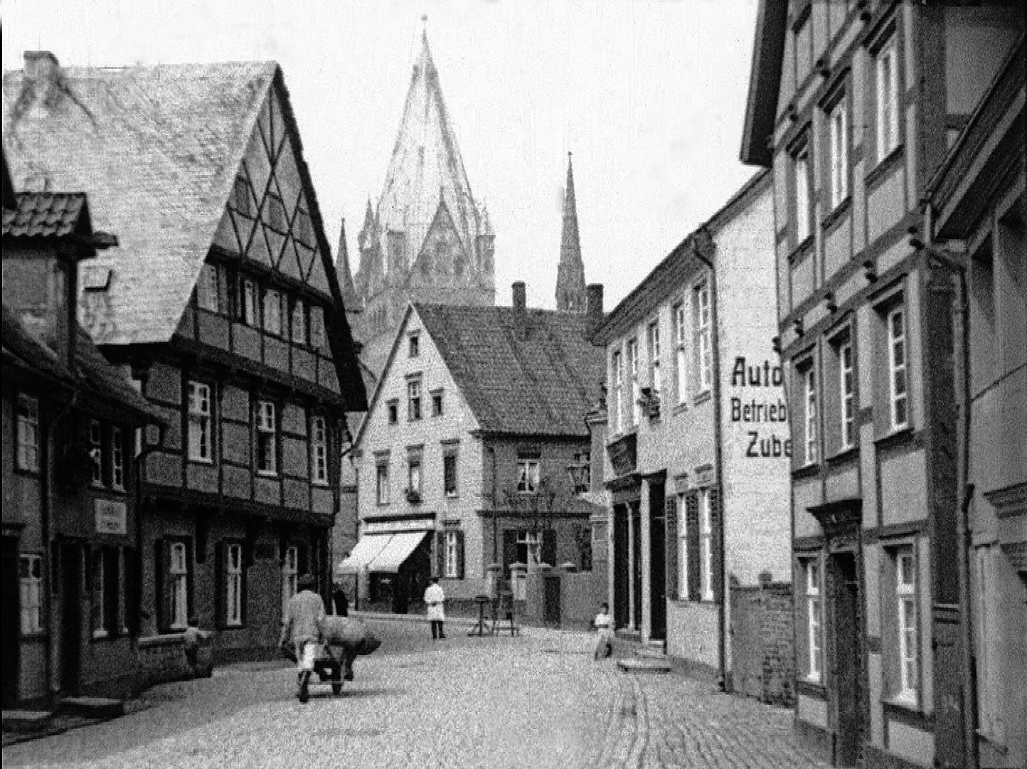 Die Soester Innenstadt mit Blick auf St. Patrokli, ca. 1926. Repro: LWL